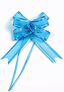 5 Noeuds en Organdi Mariage pas cher Turquoise