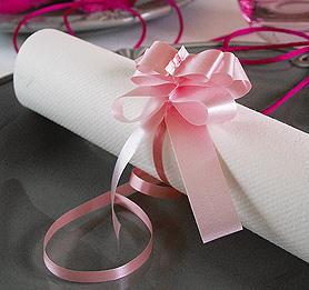 Petits Noeuds Déco Serviettes de Table Mariage Rose