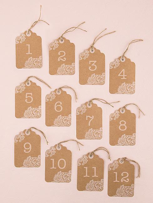 12 num ros de table etiquettes kraft mariage marque table mariage. Black Bedroom Furniture Sets. Home Design Ideas