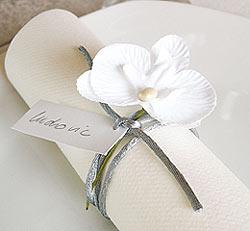 Orchidées sur Tige Décoration Table Mariage Blanc