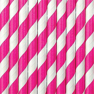 Pailles rayures fuchsia Candy Bar