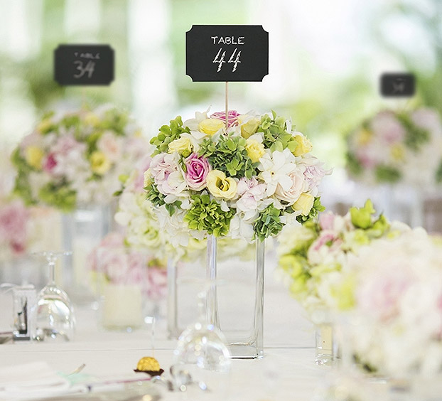 pancartes pic marque table ardoise x4 marque table mariage. Black Bedroom Furniture Sets. Home Design Ideas