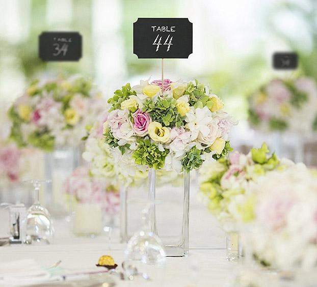 ... Pancartes Pic Marque Table Ardoise X4 Noir