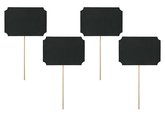 Pancartes Pic Marque Table Ardoise x4 Noir