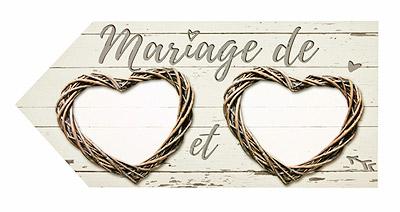 Panneau Signalisation Mariage Champêtre