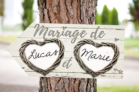 Fleche signalisation mariage