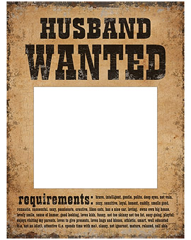 Pancartes Husband and Wife Wanted Photoboth