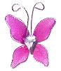 Petit Papillon Strass Décoration Mariage Fuchsia