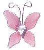 Petit Papillon Strass Décoration Mariage Rose