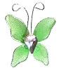 Petit Papillon Strass Décoration Mariage Vert Anis
