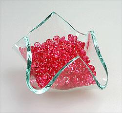 Perles de Pluie Transparentes Décoration Mariage Fuchsia