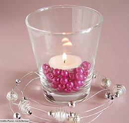 Perles Décoration Mariage pas cher Fuchsia
