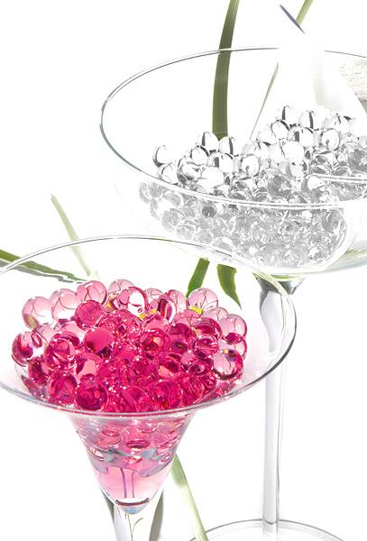 Le flacon de 145 boules d 39 eau pour d coration florale for Perle d eau decoration florale