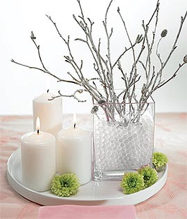 Perles d'Eau Décoration Florale Fleurs Transparent