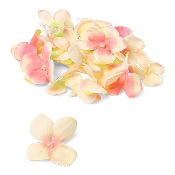 Pétales d'Hortensia Artificiels Ivoire et Rose