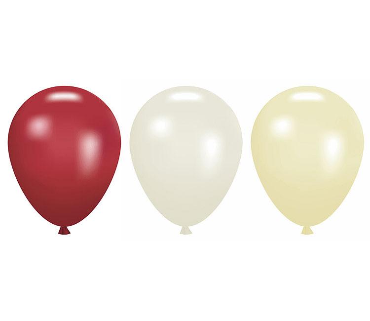 Petits Ballons Nacrés Mariage 12 cm