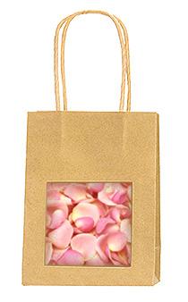 Sac Kraft Pétales de Roses Mariage
