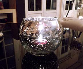 le photophore en verre boule argent e etoil e luxe bougies d coratives. Black Bedroom Furniture Sets. Home Design Ideas