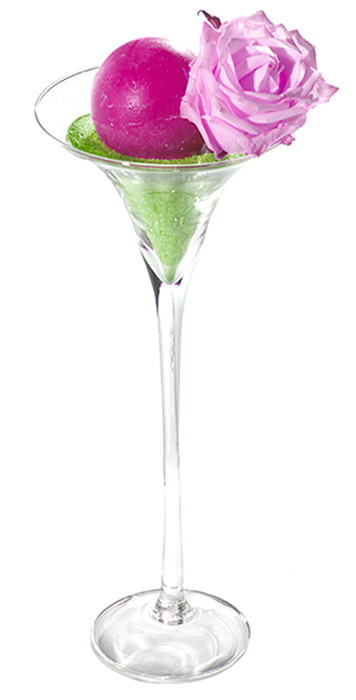 Photophore Vase Verre Martini Géant Transparent