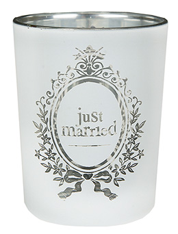Photophores Just Married Blanc Argent