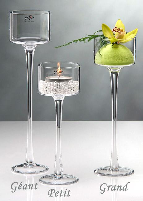 photophore verre sur pied haut mariage 35cm photophores mariage. Black Bedroom Furniture Sets. Home Design Ideas