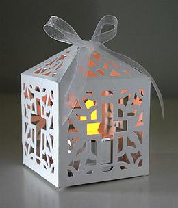 Petit Photophore Papier Cage à Oiseau Croix