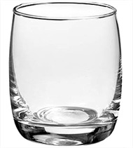 Photophore verre en forme de tonnelet