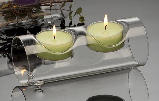 le photophore en verre design tube double luxe d coration de table mariage mariage. Black Bedroom Furniture Sets. Home Design Ideas