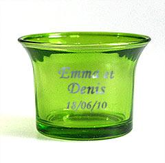 Photophore en Verre Transparent Vert Anis