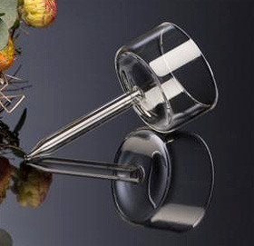Le pic porte bougie en verre transparent noel - Porte bougie en verre ...
