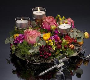 le pic porte bougie en verre transparent d coration de table mariage mariage. Black Bedroom Furniture Sets. Home Design Ideas