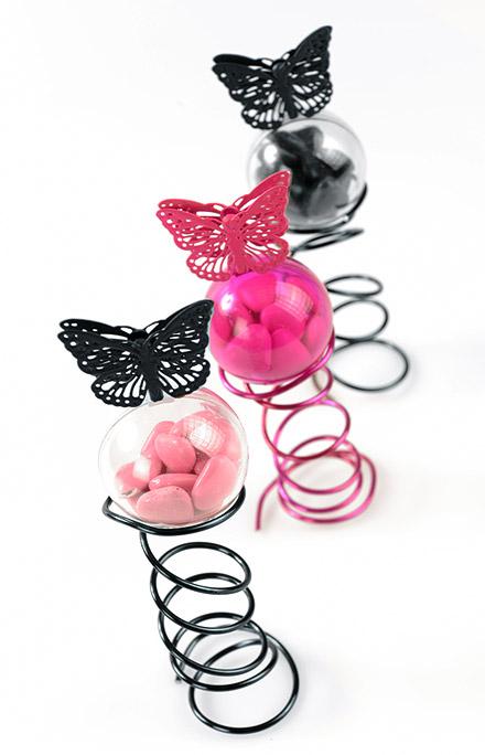 Lot De 4 Petites Pinces Papillons En Metal Ajoure Marque Place