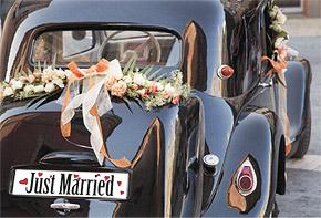 Plaque Voiture Mariage Just Married Aimantée