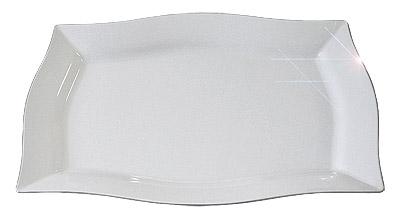 Plateau plastique blanc