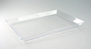 4 Plateaux pvc Transparent Présentation