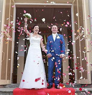 Lancer Pétales de Rose Artificiels Mariage