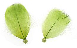 Plumes avec Perles Décoration Mariage Vert Anis