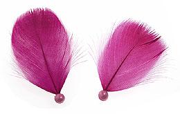 Plumes avec Perles Décoration Mariage Fuchsia