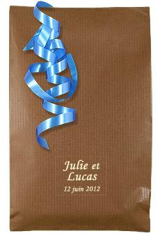 Pochette Cadeau Kraft pas cher Chocolat