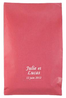 Pochette Cadeau Kraft pas cher Fuchsia