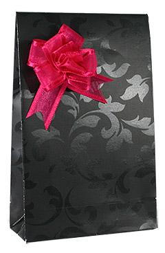 Pochette Cadeau Noire Arabesque