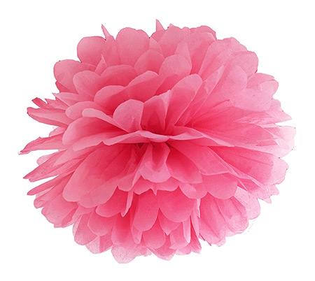 Boule Pompon Papier de Soie Mariage 25cm Fuchsia