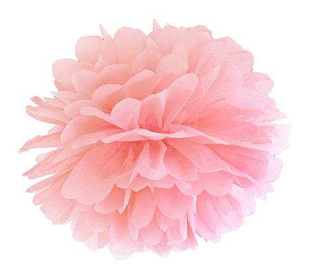 Boule Pompon Papier de Soie Mariage 25cm Rose
