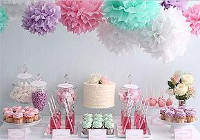 Boules Crépon décoration Candy Bar
