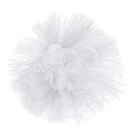 Boule Pompon Tulle Mariage Blanc