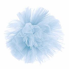 Boule Pompon Tulle 30 cm Voiture Mariage Ciel