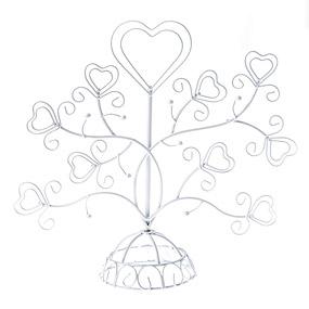 Marque Table Arbre Coeur Métal Blanc Blanc