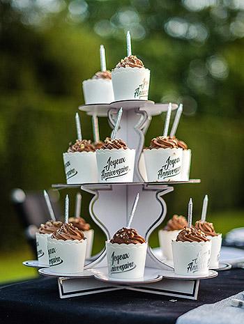 Présentoir cupcakes en carton