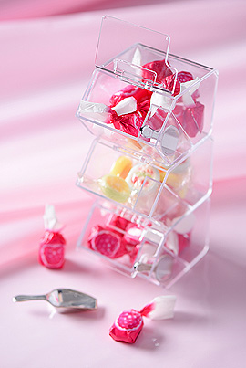 Mini Distributeur Bonbons Transparent Superposable