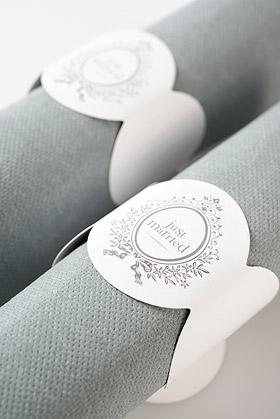 GRANDES Serviettes de Table Papier Mariage Gris